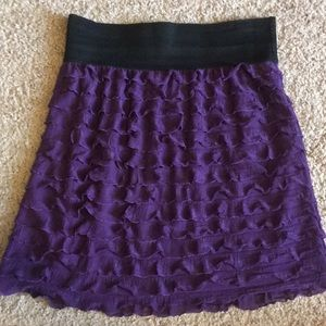 Express purple ruffle skirt